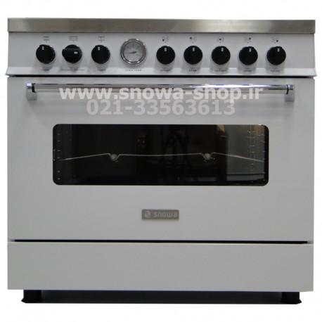 اجاق گاز اسنوا سری والنتینو تمام لعاب سفید اسنوا Valentino SGC5-6102