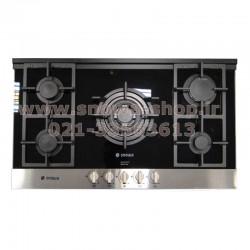 اجاق گاز صفحه ای توکار 5 شعله اسنوا G304 شیشه ای سکوریت Snowa Built-In Safety Glass Gas Cooker