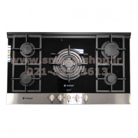 اجاق گاز صفحه ای توکار 5 شعله اسنوا G304 استیل Snowa Built-In Gas Cooker Stainless Steel