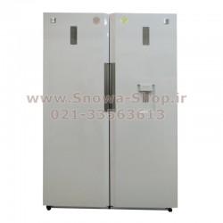 یخچال و فریزر دوقلو دوو الکترونیک DELR-2000GW DELF-2000GW سایز 38 فوت Freezer Daewoo Electronics Twin Refrigerator