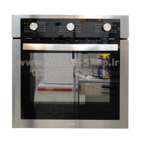 فر و گریل توکار برقی و گازی اسنوا O202 شیشه ای سکوریت Snowa Built-In Safety Glass Grill-Oven