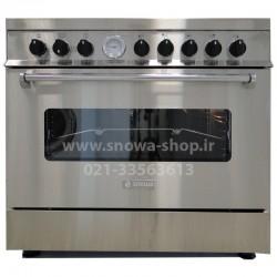 اجاق گاز اسنوا سری والنتینو تمام استیل اسنوا Valentino SGC5-6101 Snowa