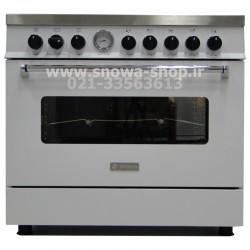 اجاق گاز اسنوا سری والنتینو تمام لعاب سفید اسنوا Snowa Valentino SGC5-6102