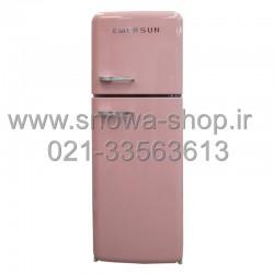 یخچال فریزر امرسان صورتی 16 فوت کلاسیک طرح اسمگ Emersun Classic Refrigerator R600 Pink