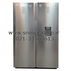 یخچال و فریزر دوقلو دوو الکترونیک D2LR-2000SS D2LF-2000SS سایز 38 فوت Freezer Daewoo Electronics Twin Refrigerator