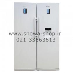 یخچال و فریزر دوقلوی اسنوا سری کوئین مدل Snowa S5-0180SW Queen